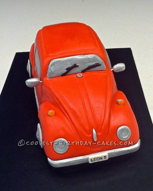 Awesome 3D Volkswagen Beetle Car Cake ... This website is the Pinterest of birthday cakes