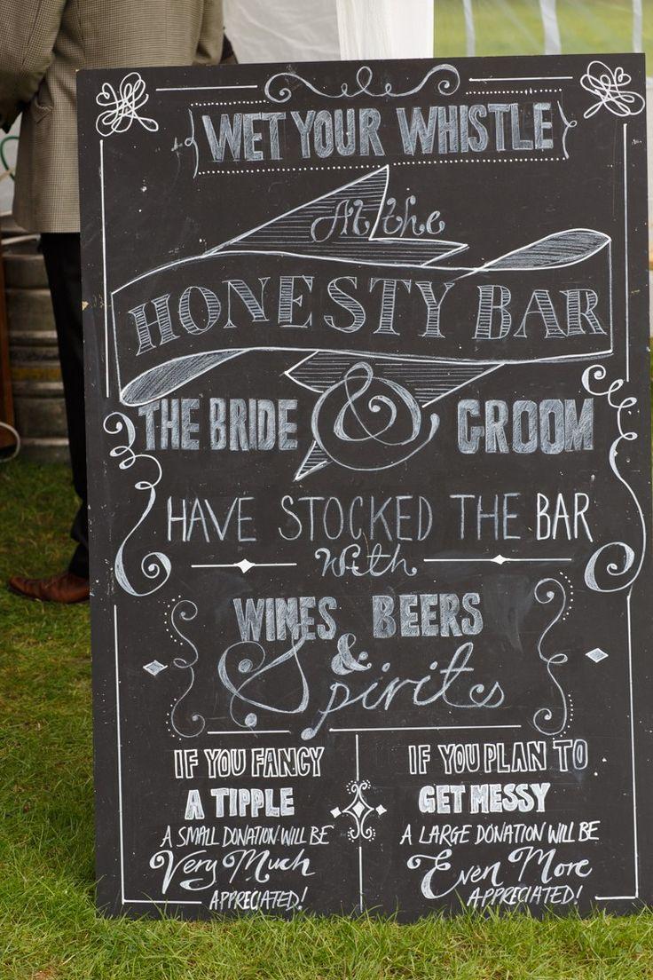 Honesty Bar Sign Country Fete Garden Festival Wedding http://sharoncooper.co.uk/