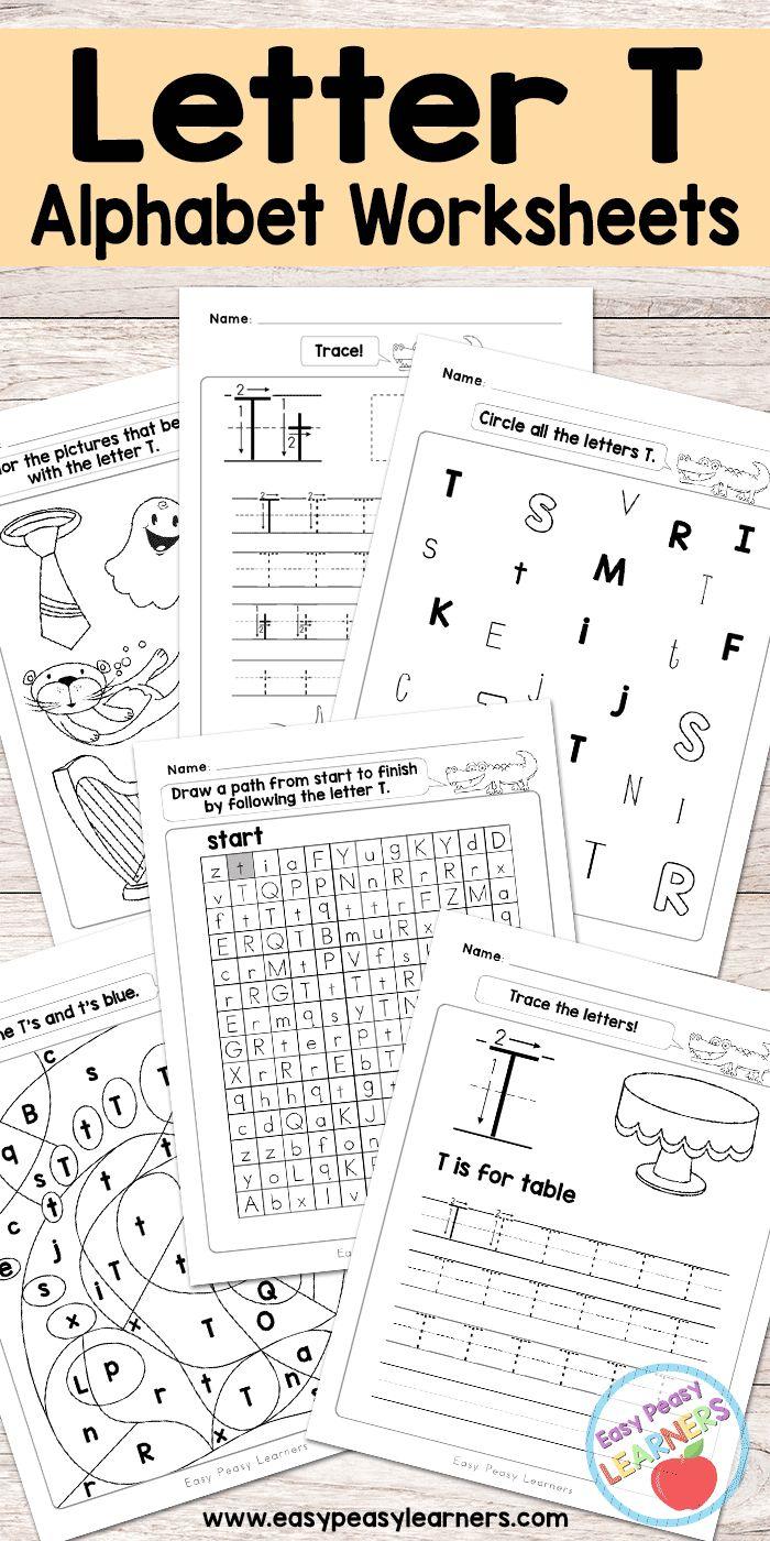 Free Printable Letter T Worksheets - Alphabet Worksheets Series