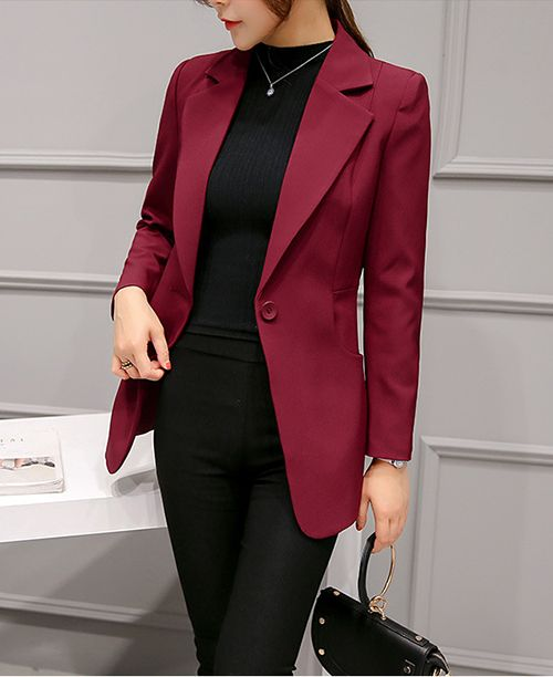 58ef44c217 Blazer feminino slim fit acinturado colorido em 2019