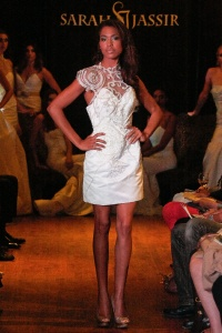 Sarah Jassir short wedding dress