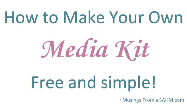 How To Make Your Own Media Kit #Tutorial #Blogging: Blog Resources, Kits Blog, Blog Website, Blog Business, Blog Stuff, Stay At Home Mom, Blog Ideas, Blog Things, Blog Socialmedia