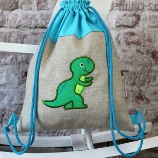 Personalized Draw String Back Pack - DINO