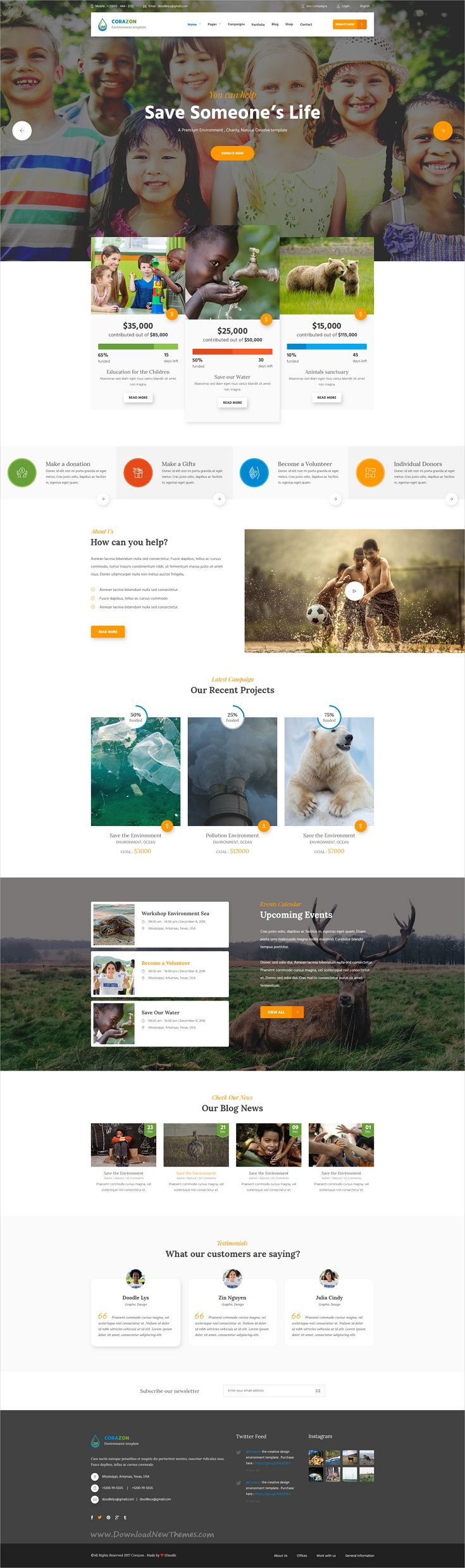 Corazon is a wonderful PSD template for #environment, #charity, non-profit #organization, donation, church or fundraising website with 18+ layered PSD files download now➩ https://themeforest.net/item/corazon-multi-concept-environment-charity-green-energy-nonprofit-psd-template/19535858?ref=Datasata