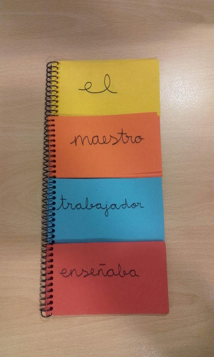 Trabajamos el género y número con los artículos, sustantivos, adjetivos y verbos.