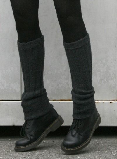 1460 doc martins AND leg warmers. now i want both.