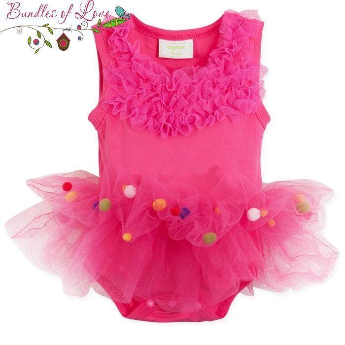 Bundles of Love - Baby Girls Tutu Carnival Romper - Hot Pink - Sizes (3-6), (6-12)