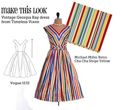 This website is so cool.  It matches up patterns with dresses that you find on websites.