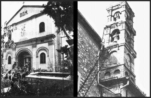 Sağdaki çan da dahil olmak üzere günümüze kadar Buca'da en iyi korunmuş yapılardan biri olan Buca Katolik Kilisesi. Günümüzde halen kullanılıyor ve Bucalı Katolik olan küçük bir cemaate sahip.