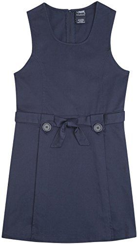 French Toast School Uniforms Sash Jumper Girls navy 7 - Click image twice for more info - See a larger selection of school uniform dresses at http://girlsdressgallery.com/product-category/school-uniform-dresses/ - girls, dress, little girls, kids, toddler, little girls dress, little girls style.