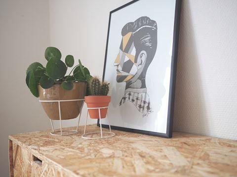 DIY: Blomsteropsats af en lampeskærm