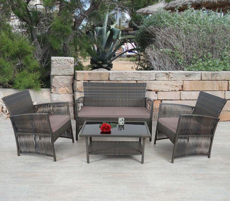 2-1-1 poly-rattan garten-garnitur cordoba, sitzgruppe lounge-set, Garten und Bauen