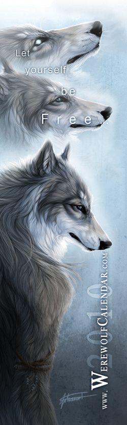 Werewolf Calendar Bookmark by ~zowolf on deviantART