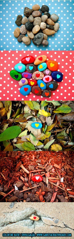 Pedras Coloridas  http://www.garotacriatividade.com/2011/11/15/no-meu-caminho-tinha-uma-pedra-colorida/