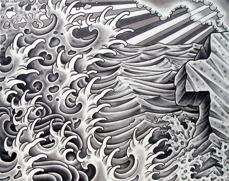 japanese water - Google Search | Japanese wave tattoos ...Waves Drawing Tattoo