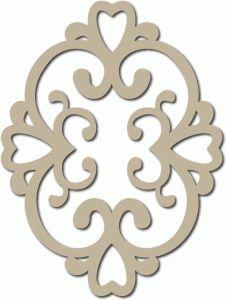 Silhouette Design Store - View Design #65341: scroll heart motif
