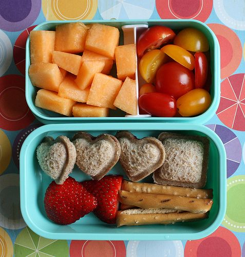 Blog with tons of cute and healthy ideas for lunch boxes. I try to keep a couple of boxes in a drawer that way if little boy is hungry he can get it himself ;o)