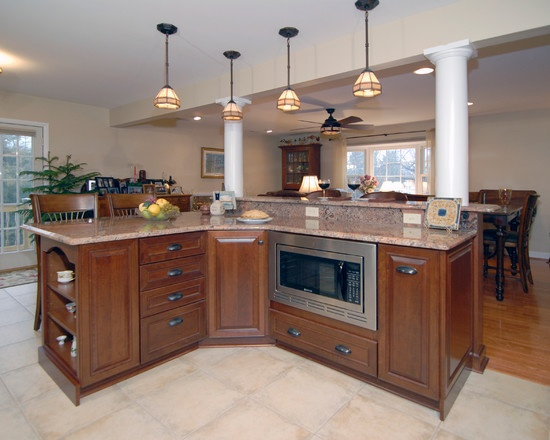 great working 2 tier island kitchen islands pinterest. Black Bedroom Furniture Sets. Home Design Ideas