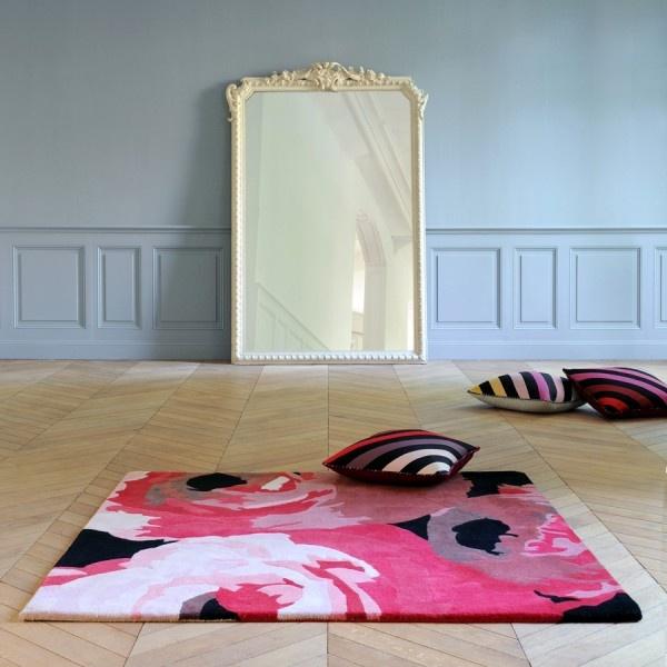 Tapis Délicat et coussins Insolent par Sonia Rykiel Maison - Délicat Rug and Insolent cushions by Sonia Rykiel Home