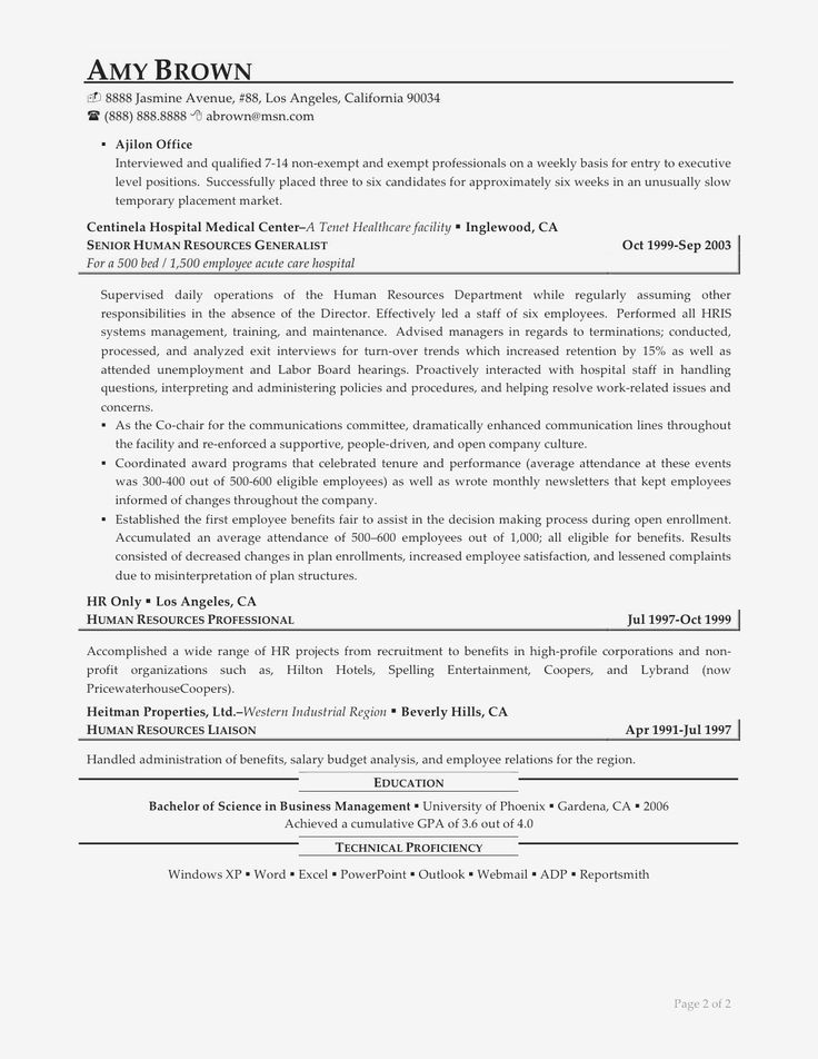Entry Level Human Resources Resume Luxury Sample Hr