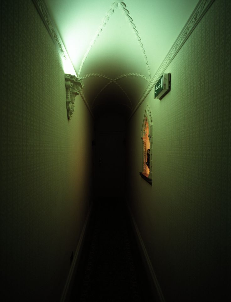 Dark Hallway That Marie Walks In To Go To The Toilet