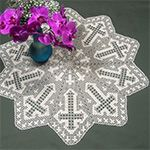 Filet Crochet Cross Bookmark Pattern | This Table Topper is crocheted in rounds, starting in the center. The ...