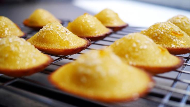 marmalade-glazed orange madeleines
