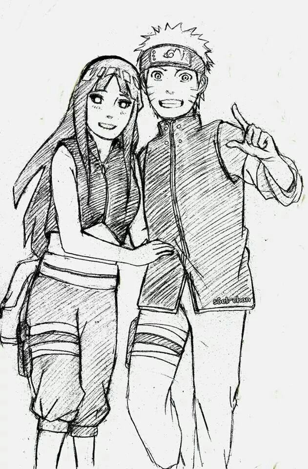 NaruHina ( sketches from the new movie Naruto shippuden : the last)