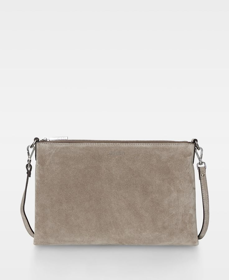 Decadent Small flat cross body - Suede sand