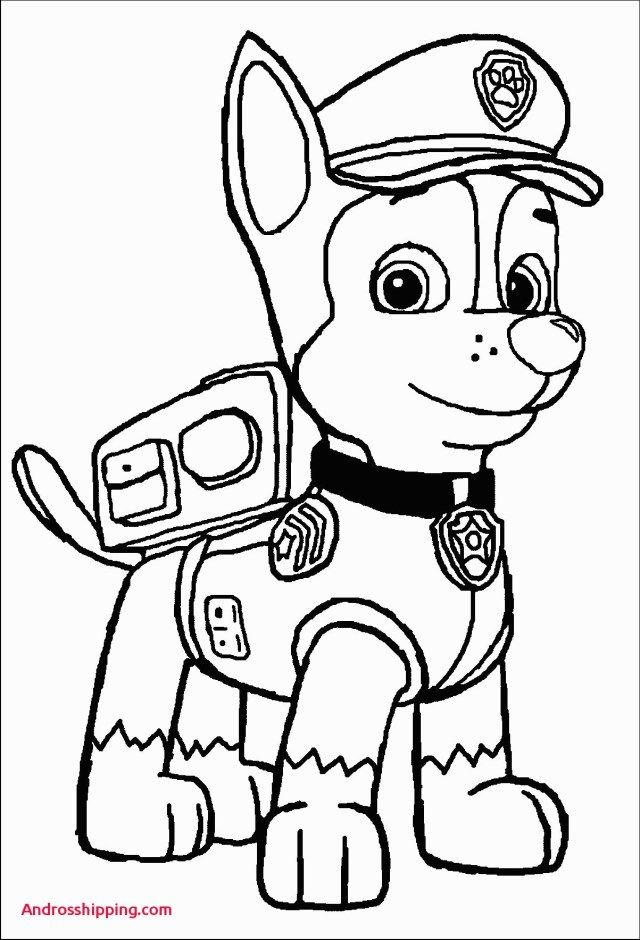 25 Excellent Picture Of Chase Paw Patrol Coloring Page Paw
