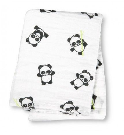 Lulujo Kocyk muślinowy Panda