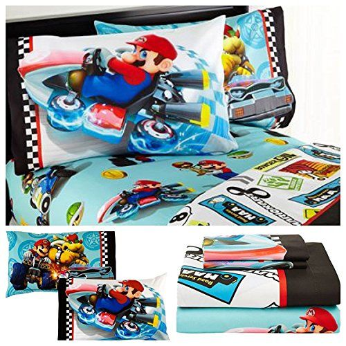 #Nintendo #Super #Mario #Kart #8 #Microfiber #Sheet #Set - #Twin Fitted #sheet (39 in. x 75 in.) Flat #Sheet (66 in. x 96 in.) Standard size pillow case (20 in. x 26 in.) https://technology.boutiquecloset.com/product/nintendo-super-mario-kart-8-microfiber-sheet-set-twin/