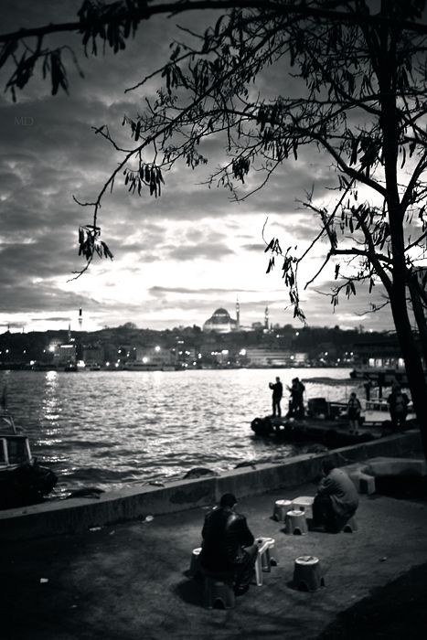 Gorgeous Istanbul in the half-light, on the banks of the Bosphorus
