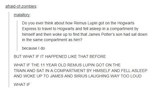 Remus Lupin and the Hogwarts Train