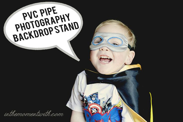 PVC Pipe Photography Backdrop Stand - by Sarah Halstead