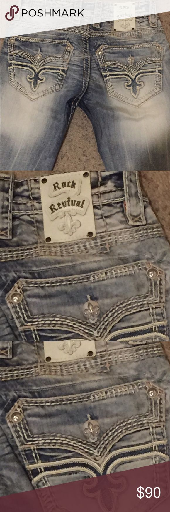 Men's Rock Revival Jeans Men's Rock Revival Jeans - Like New, Excellent condition Rock Revival Pants Straight Leg