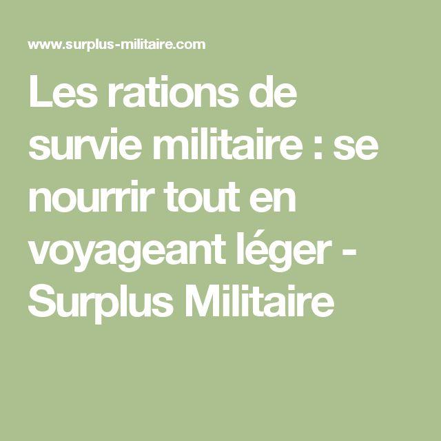 Les rations de survie militaire : se nourrir tout en voyageant léger - Surplus Militaire