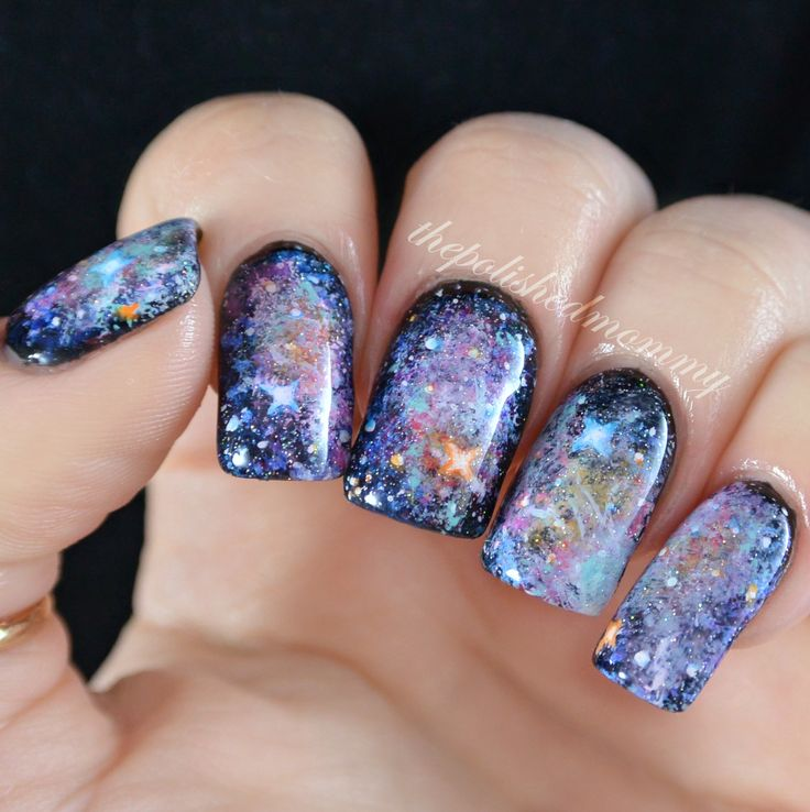 The 105 best Galaxy Nail Designs images on Pinterest | Nail art ...