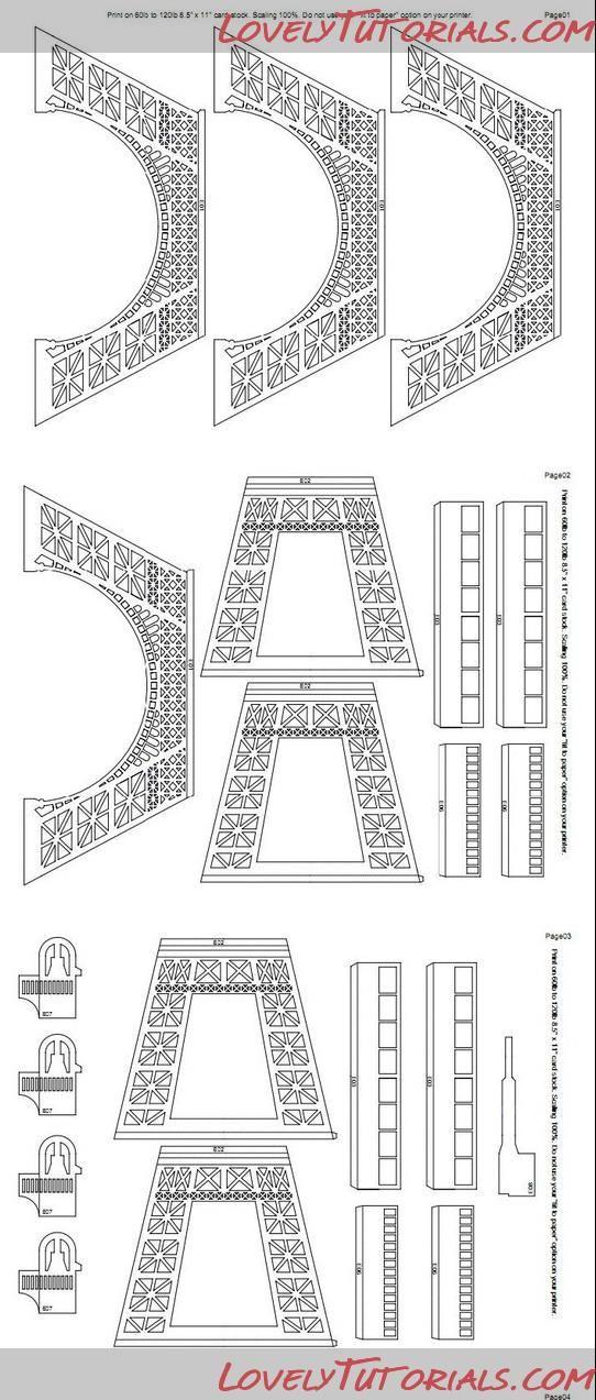 Эйфелева башня трафареты ,Eiffel tower templates - Мастер-классы по украшению тортов Cake Decorating Tutorials (How To's) Tortas Paso a Paso