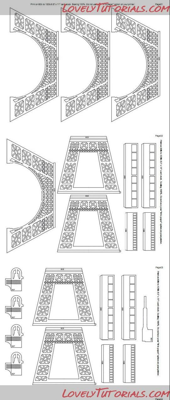 eiffel tower templates