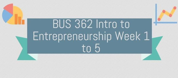 BUS 362 Intro to EntrepreneurshipWeek 1Discussion 1, Entrepreneurial Motivation and RewardsDiscussion 2, Focus StrategyWeek 2Assignment Identification of Business Opportunity ProjectDiscussion 1, Business PlanDiscussion 2, Venture SelectionWeek 3Assignment, WindVest Motorcycle ProductsDiscussion 1,