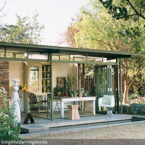 59 besten gartenhaus bilder auf pinterest gartenh user g rtnern und balkon - Offenes gartenhaus ...
