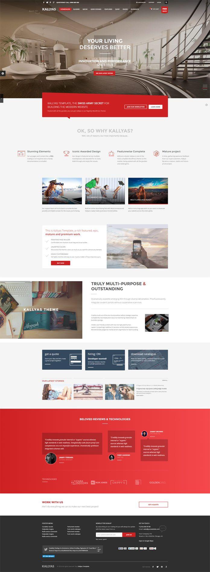 KALLYAS Website Template 240 best Build a