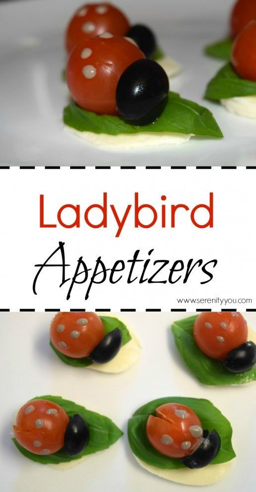 Ladybird Appetizers - A great kids party food idea #ladybird #food #snacks #party