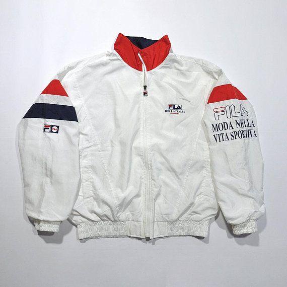 c920f5c80abf9 Rare Vintage 80s 90s FILA Biella Italia Sportiva Windbreaker Jacket ...