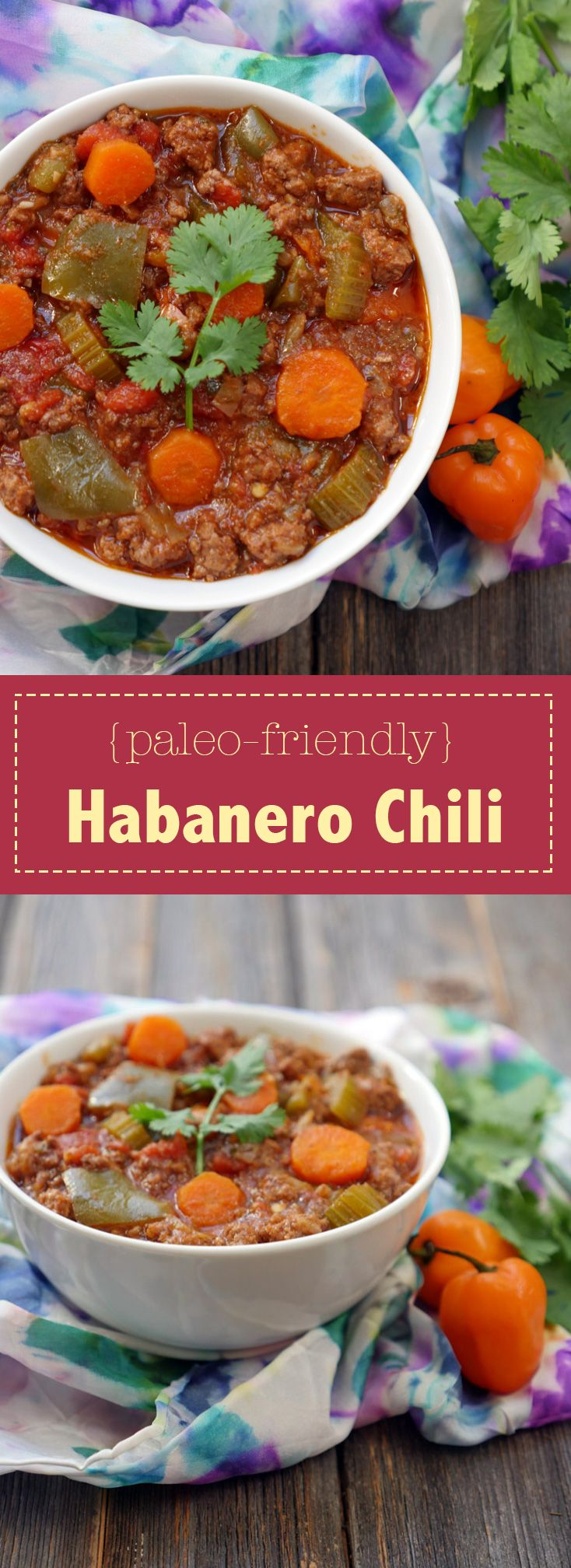 This Habanero Chili is a spicy and hearty chili made using a slow cooker. Recipe by Ashley of MyHeartBeets.com