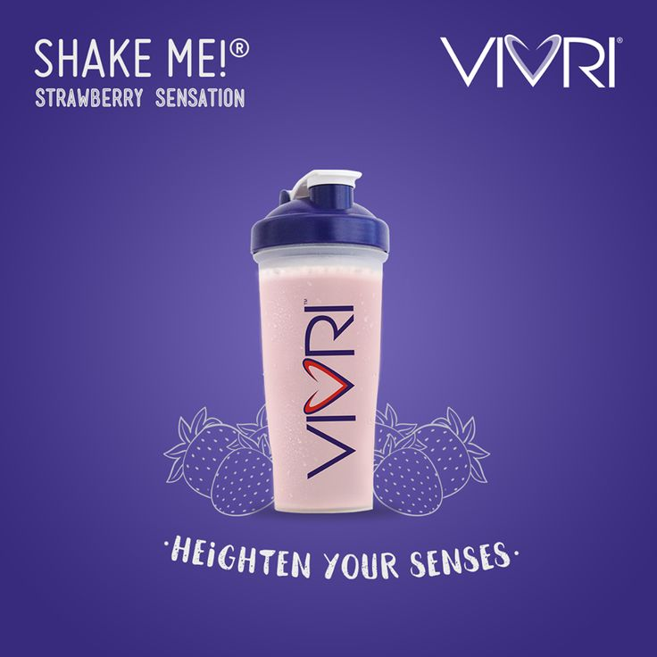 Let the endless flavor of Shake Me!® Strawberry Sensation elevate your senses to heights you've never experienced before! Wake up and Shake up!   #VIVRI #ShakeMe #strawberry