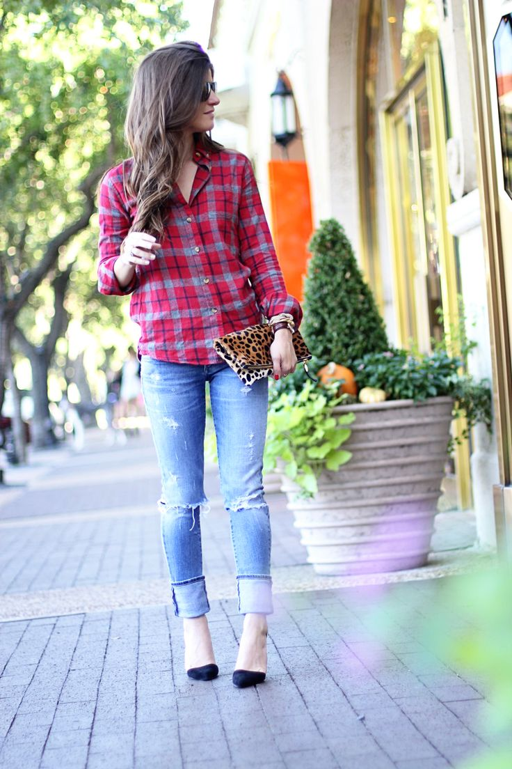 Plaid and leopard and #deekellershoes