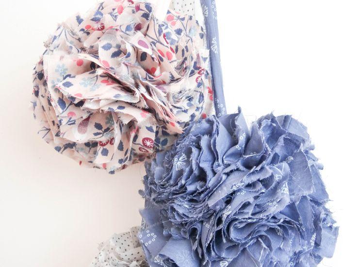 DIY Frou-Frou de Atelier Svila : pompon de tissu