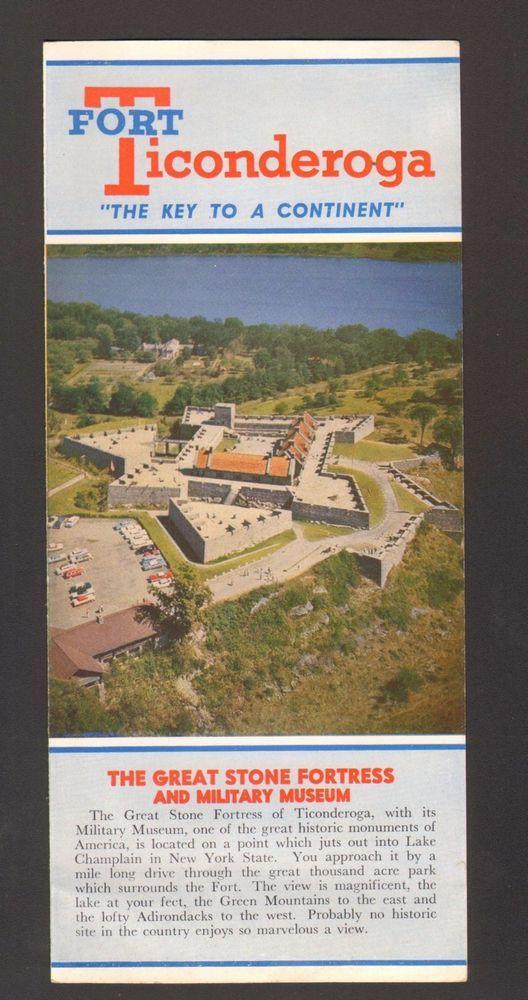 Undated Vacation Travel Brochure Fort Ticonderoga Lake Champlain NY
